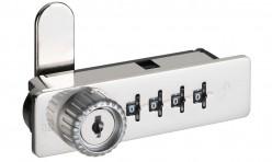 serratura a combinazione in metallo